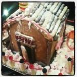 Gingerbread house front door