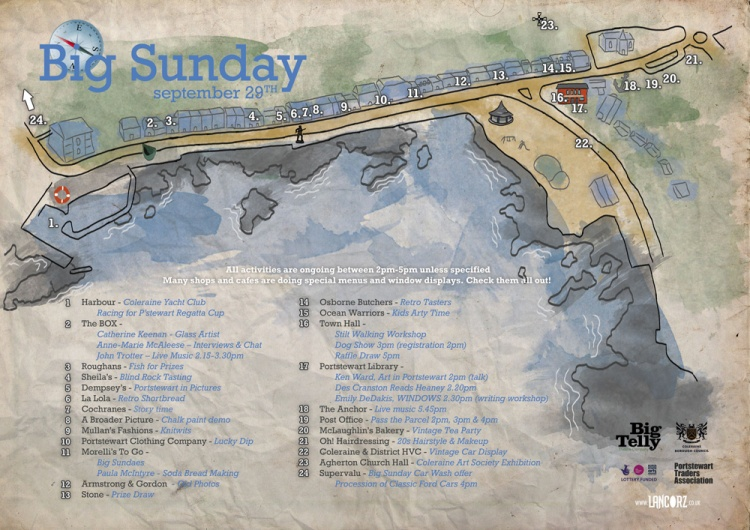 Big sunday map