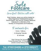 Sole footcare quarter